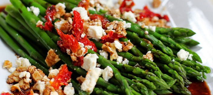 Asparagus and Tomato Salad with Feta