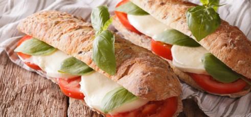 Panini Vegetariano de Legumes e Queijo de Cabra