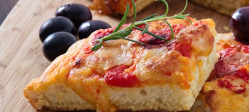 Pizza de Pão Grelhada