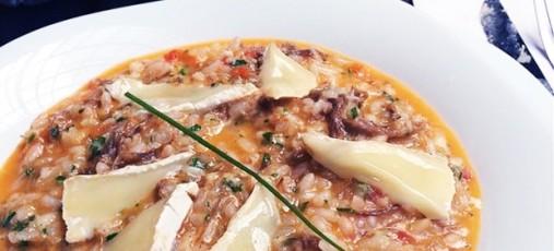 Risotto de Carne Seca com Queijo Brie