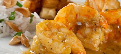 Curry de camarão