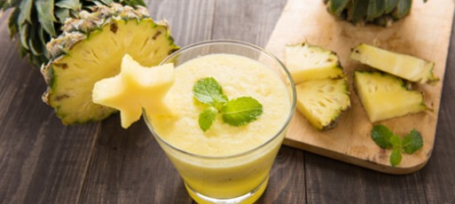 abacaxi com hortelã